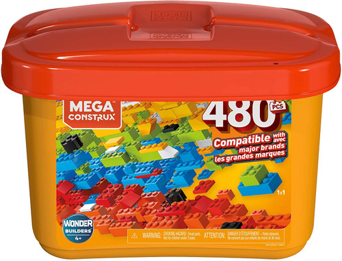 Mega Construx Building Blocks Orange Tub 480pc