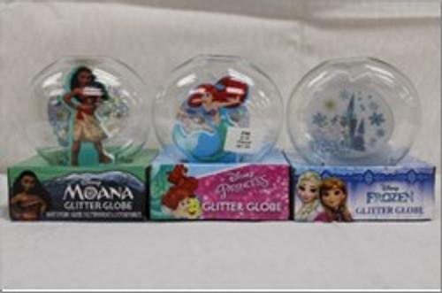 Disney Princess Glitter Globe asst