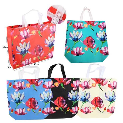Shopping Bags- Floral Pattern 19x15 5 Asst