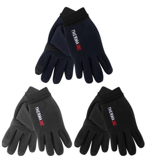 Mens Touch Lt Fleece Glove w Rib Cuff-Thermax-asst