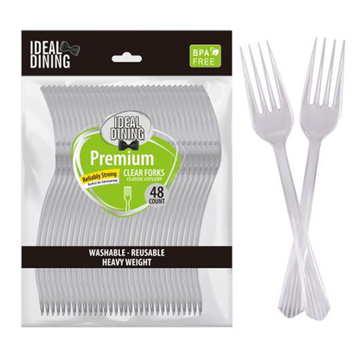 Plastic Forks Clear 48ct