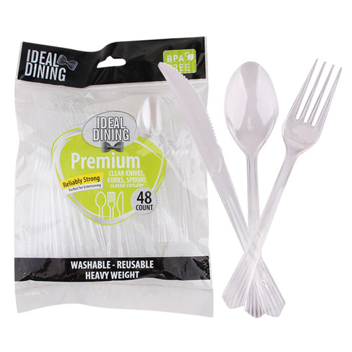 Plastic Combo Clear 48ct