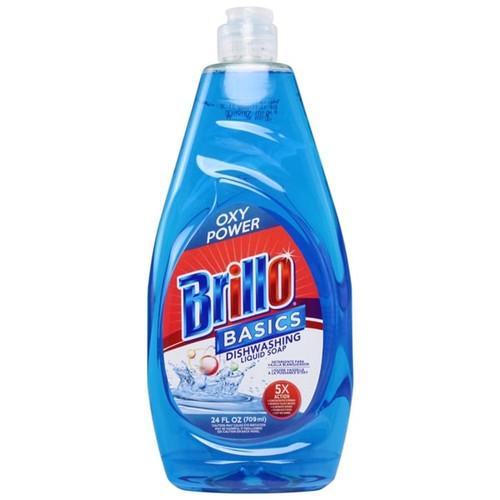 Dish Liquid- Brillo Basics Blue Oxy Power 24oz
