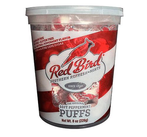 Red Bird Candy Puffs- Peppermint Tub 8oz $1.99!