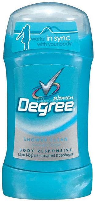 Degree Deodorant Invisible Solid Shower Clean Woman 1.6oz
