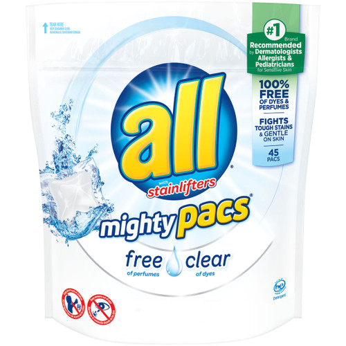 Laundry Detergent- All Free & Clean Pacs 45ct