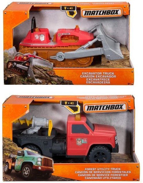 "Matchbox Excavator/Forest Utility Truck 12"""