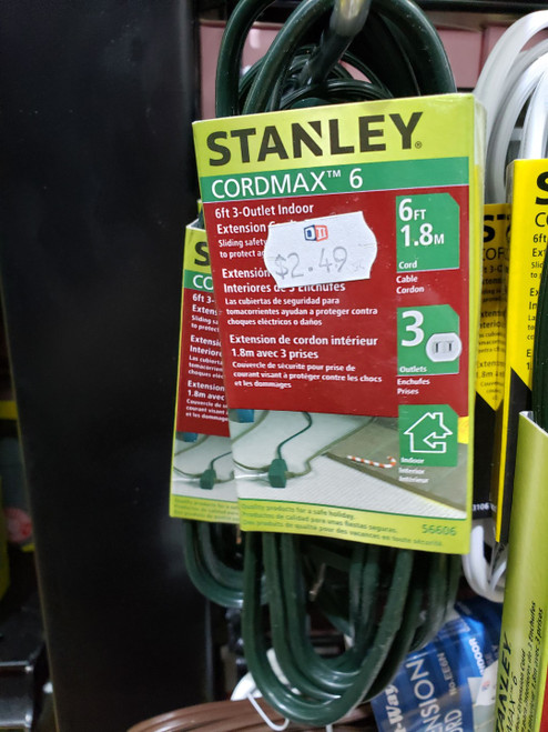 Stanley 6 Ft Ext Cord- Green UL