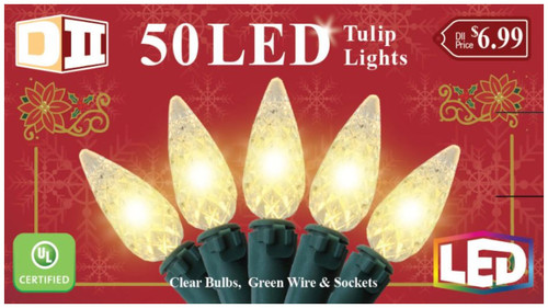 RHG: 50 Tulip UL Light Set LED - Warm White Bulbs