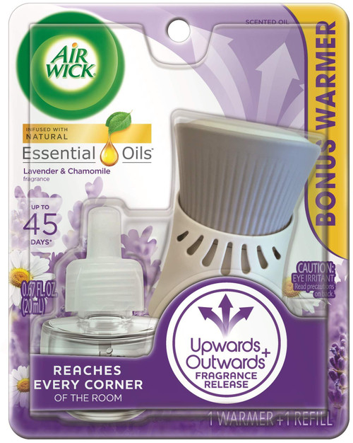 Air Wick plug in Scented Oil, Starter Kit, Lavender & Chamomile