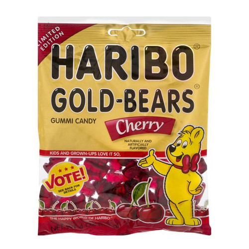 Haribo Gummi Bears Cherry, 4 oz