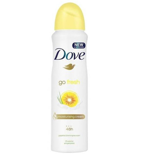 Dove Anti-Perspirant Deodorant Spray, Go Fresh Energizing Grapefruit & Lemongrass, 150 ML