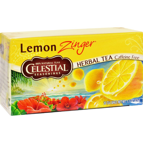 Celestial Seasonings Herbal Tea, Lemon Zinger, 20 Tea Bags