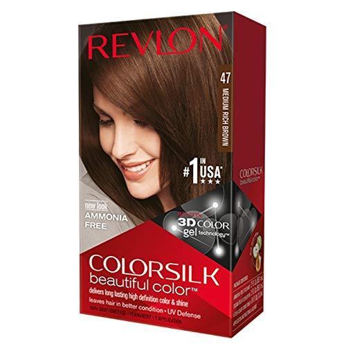 Revlon ColorSilk Hair Color, Medium Rich Brown 47