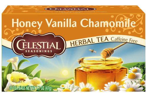 Celestial Seasonings Honey Vanilla Chamomile Herbal Tea, 20 Tea Bags