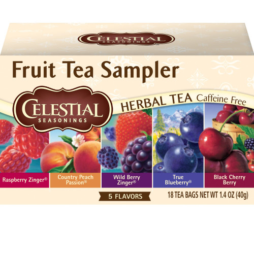 Celestial Seasonings Herbal Tea, Fruit Sampler, 18 Tea Bags