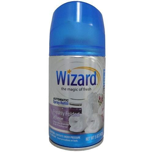 Wizard Automatic Spray Can Refills, Freshly Folded Linen, 5 oz