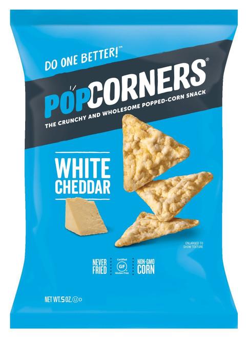 Popcorners Popped Corn Chips, White Cheddar, 5 oz
