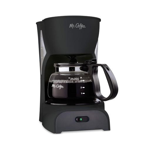 Mr. Coffee Simple Brew Coffee Maker, 4 Cup, Black Medium
