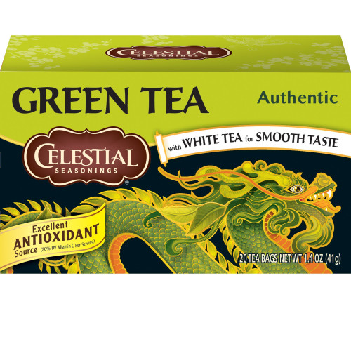 Celestial Seasonings Authentic Green Tea, 20 Tea Bags