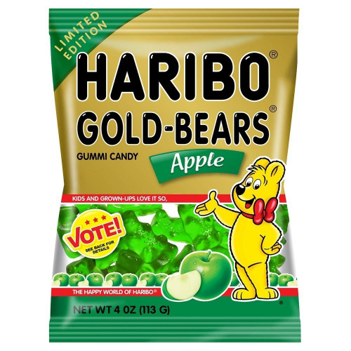 Haribo Gummi Bears Apple, 4 oz