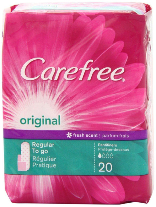 Carefree Panty Liner, Regular, Original Scent, 20ct