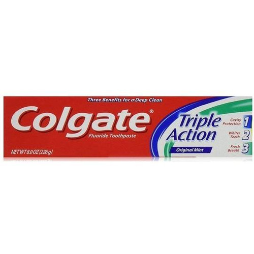 Colgate Toothpaste Triple Action Mint, 8 oz