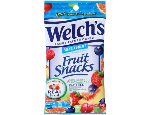 Welch's Mixed Fruit Snacks, 2.25 oz