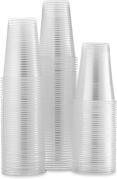 Party World Everyday Plastic Cups, 7 oz, Clear, 100 Cups
