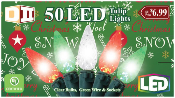 RGC: 50 Tulip UL Light Set LED -  Cool W/R/G Bulbs