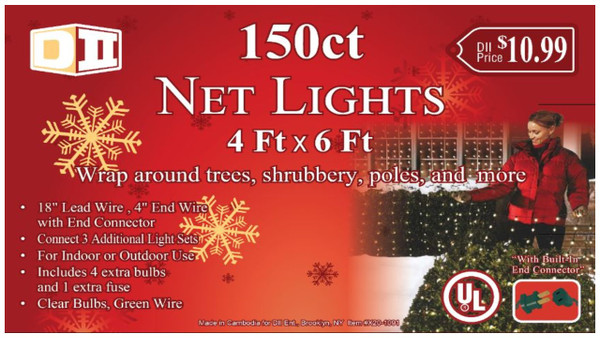 150ct Net UL Light Set - Clear Bulbs