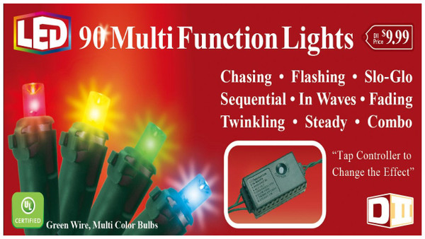 90 UL Lights Chaser LED - Multi Color w/Controller
