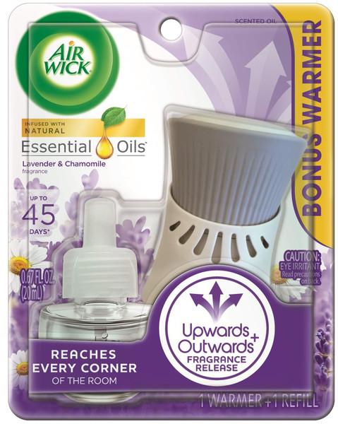 Air Wick plug in Scented Oil, Starter Kit, Lavender & Chamomile