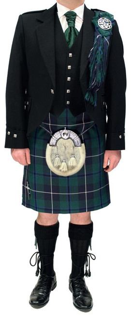 Modern Argyll shown with Modern Douglas tartan kilt