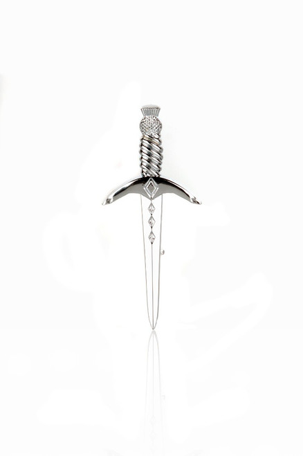 Dagger Kilt Pin Chrome Finish