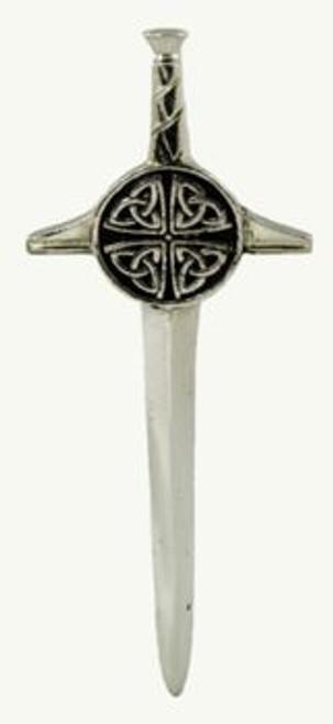 Pewter Kilt Pin Polished Finish KP57P