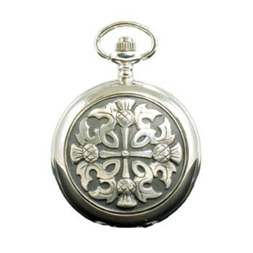 4 Thistle Mechanical Pocket Watch