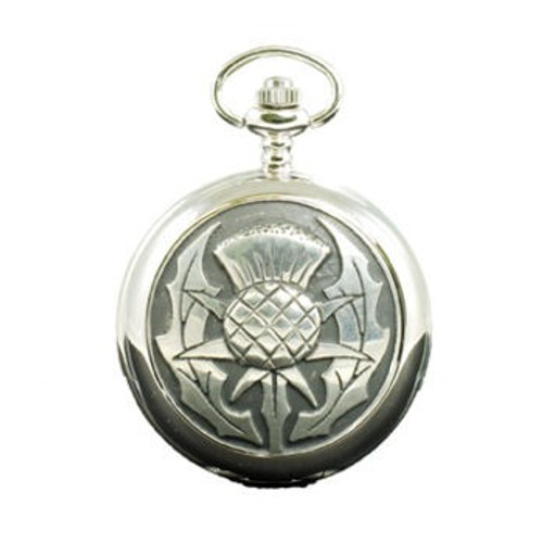 Modern Thistle Mechanical Pocket Watch
