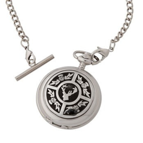 Thistle / Stag Mechanical Pocket Watch