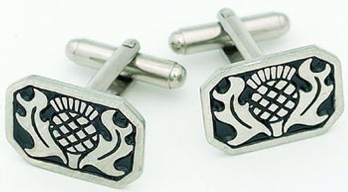 Thistle Pewter Cufflinks KCL1