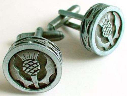 Thistle Pewter Cufflinks KCL7M