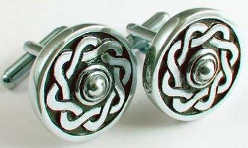 Thistle Pewter Cufflinks KCL9P