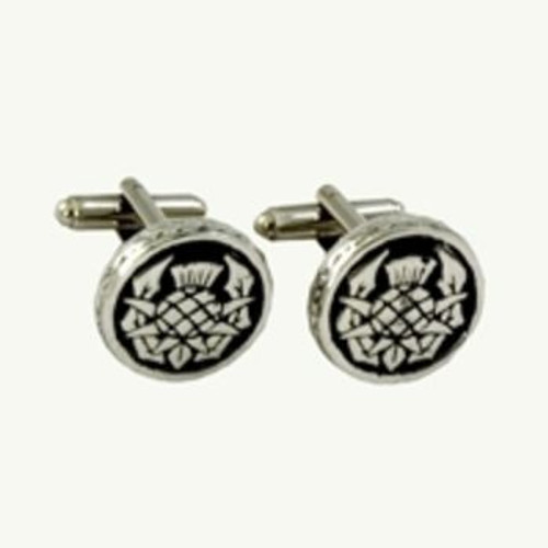 Thistle Pewter Cufflinks KCL25P
