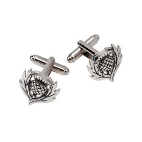 Thistle Pewter Cufflinks KCL33P