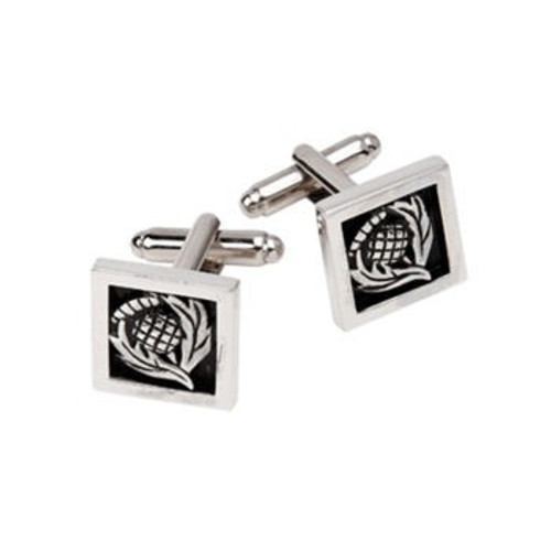 Thistle Pewter Cufflinks KCL34P