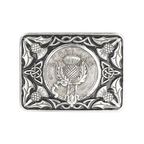 Thistle Pewter Belt Buckle Classic Design