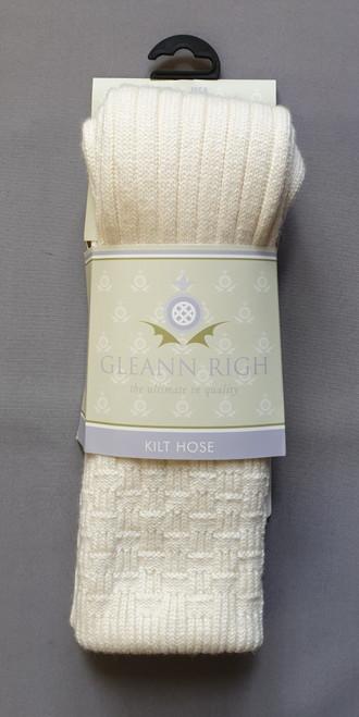 Glenbeg ecru socks