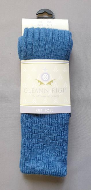 Glenbeg lovat blue socks