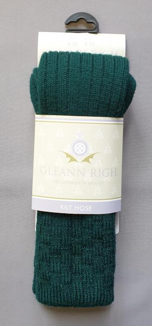 Glenbeg bottle green socks