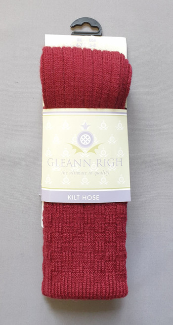 Glenbeg burgundy socks